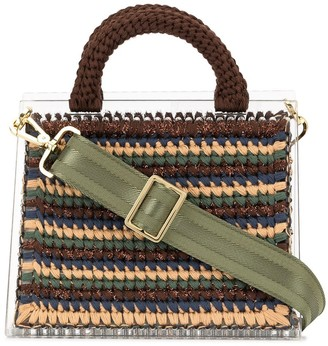 0711 Striped St. Barts small bag