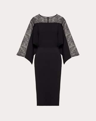 Valentino Stretch Viscose And Lace Dress Women Black Viscose 83%, Polyester 17% S