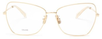 Celine Butterfly Metal Glasses - Gold