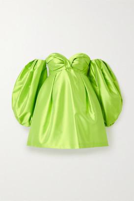 Carolina Herrera Faille Mini Dress - Green