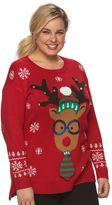 Plus Size US Sweaters Christmas Crewneck Sweater