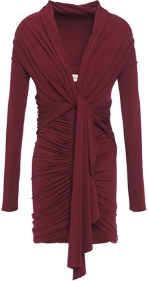 Alexandre Vauthier Ruched Draped Jersey Mini Dress