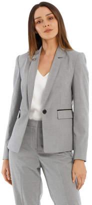Basque Houndstooth Suit Jacket