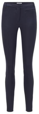 HUGO BOSS Slim Fit Legging Style Pants With Side Seam Inserts - Light Blue