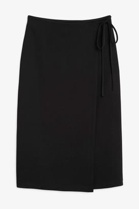 Monki Midi wrap skirt