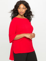 ELOQUII Plus Size Textured Hi Lo Top