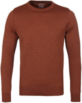 Paul & Shark Rust Orange Knitted Crew Neck Sweater