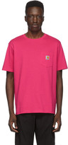 Carhartt Work In Progress Pink Pocket T-Shirt