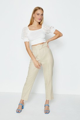 Coast Belted Washed Linen Trouser