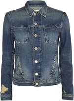 L'Agence Celine Femme Distressed Denim Jacket