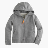 J.Crew Kids' hangout zip hoodie in heather graphite