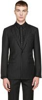Givenchy Black Pinstriped Blazer