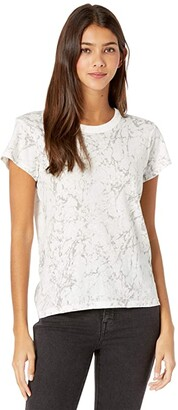 Madewell The Perfect Vintage Tee in Marble Print (Marbled Lighthouse) Women's Clothing
