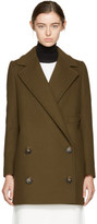 Stella McCartney Khaki Edith Double-breasted Coat