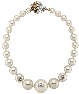 Gucci Faux Pearl Necklace