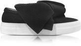 Joshua Sanders Black AT Fabric Bow Slip-on Sneaker