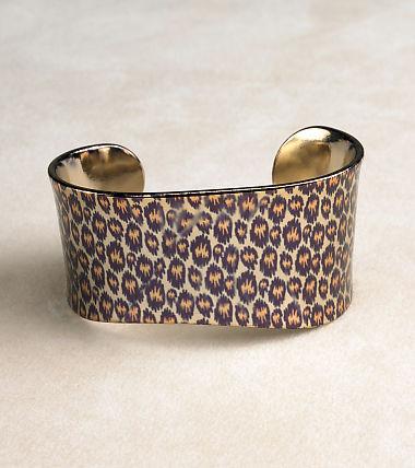 Liz Claiborne Monet Leopard Print Cuff