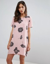 Pieces Isabella Flower Print Shift Dress