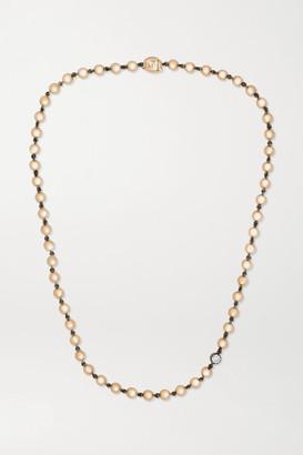 Jessica McCormack Ball N Chain 18-karat Rose Gold Diamond Necklace - One size