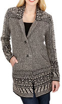 Lucky Brand Border Knitted Cardigan