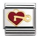 Nomination Composable Classic Love Heart with Key Stainless Steel
