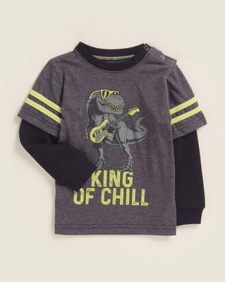Kapital K (Infant Boys) King of Chill Double Layer Long Sleeve Tee