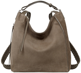 AllSaints Cooper Leather Small Backpack, Ash Grey