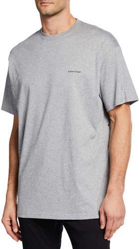 Balenciaga Men's Logo T-Shirt