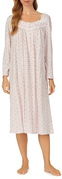 Eileen West Floral Long Sleeve Ballet Nightgown