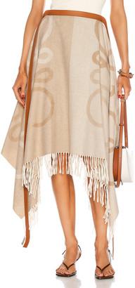 Loewe Anagram Blanket Long Skirt in Ecru | FWRD