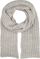 The Elder Statesman MEN'S RIB TUCK CASHMERE SCARF