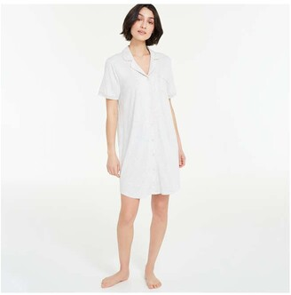 Joe Fresh Women's Sleep Shirt Chemise, Light Grey Mix (Size XS)