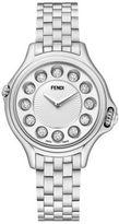 Fendi Crazy Carats Diamond, Multicolor Topaz & Stainless Steel Small Bracelet Watch/White