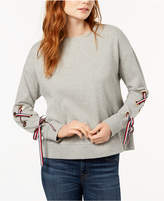 Tommy Hilfiger Lace-Up Sweatshirt, Created for Macy's
