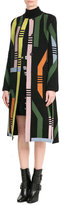 Peter Pilotto Printed Coat with Wool and Angora