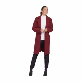 Tribal womens Coat-cabernet BOILED WOOL COAT Cabernet