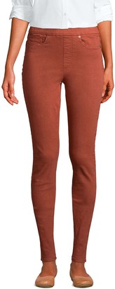 Lands' End Women's High Rise Pull-On Skinny Jeans