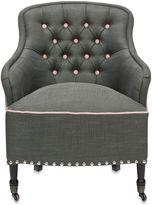 Safavieh Paisley Arm Chair with Black Legs