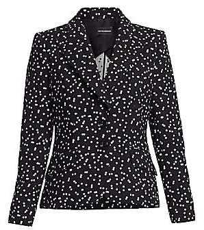Emporio Armani Women's Polka Dot Stretch Cotton Blazer
