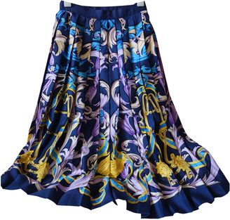 Hermes Blue Silk Skirts