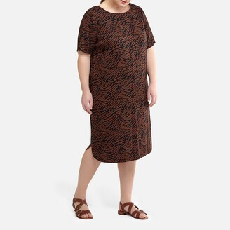 La Redoute Collections Plus Animal Print Shift Dress