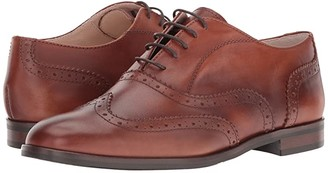 Massimo Matteo Oxford Wing Tip (Cuoio) Women's Lace Up Wing Tip Shoes