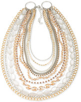 ABS by Allen Schwartz Two-Tone Beaded Multi-Layer Necklace