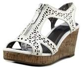 Diba Nala Ii Women Open Toe Synthetic White Wedge Sandal.