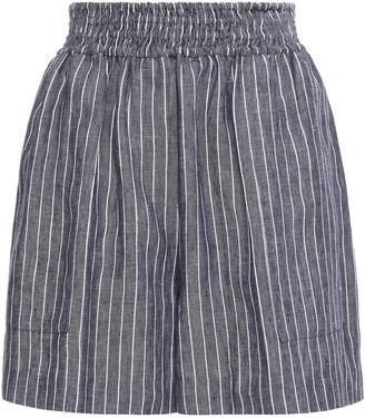 Brunello Cucinelli Pinstriped Linen Shorts