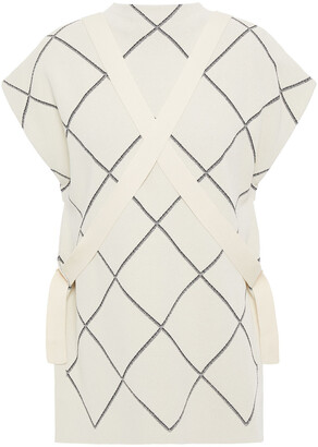 Proenza Schouler Checked Jacquard-knit Top