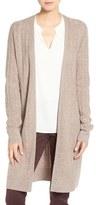 Halogen Rib Knit Merino Wool & Cashmere Cardigan (Regular & Petite)