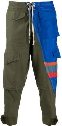 Greg Lauren patchwork utility trousers