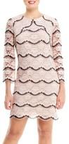 London Times Lace Shift Dress