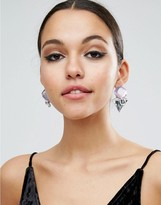 Asos Statement Iridescent Stud Earrings